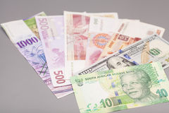 International currencies Stock Image