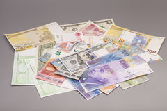 International currencies isolated Royalty Free Stock Photography