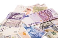 International currencies Royalty Free Stock Photo