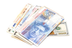International currencies Stock Images