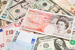 International currencies Stock Photography