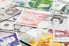 International currencies, various state Stock Photography