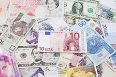 International currencies, various state Stock Image