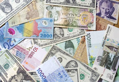 International currency. Some kind of international currency for background Stock Photo