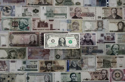 International currency. Dollar`s dominance Royalty Free Stock Photography