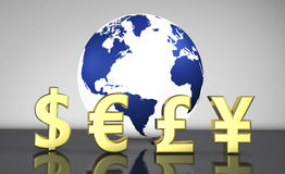 International Currency Exchange Business Stock Images