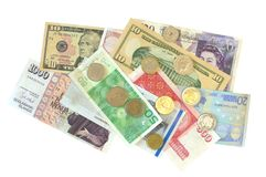 International Currency. Money from America and Western Europe Stock Images