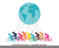 International cycling race. abstract poster design Stock Photography