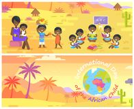 International Day of African Child Banners Set Royalty Free Stock Photo