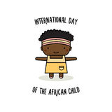 International Day of the African Child. Vector illustration. International Day of the African Child. Girl. Vector illustration Royalty Free Stock Photo