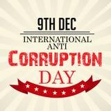 International Day Against Corruption. Creative banner or poster for International Day Against Corruption royalty free illustration