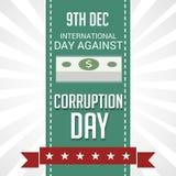International Day Against Corruption. Creative banner or poster for International Day Against Corruption Stock Photos