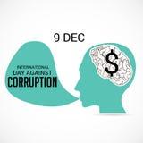 International Day Against Corruption. Creative banner or poster for International Day Against Corruption vector illustration