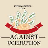 International Day Against Corruption. Creative banner or poster for International Day Against Corruption Royalty Free Stock Photography