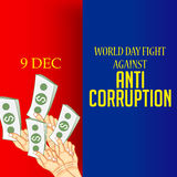 International Day Against Corruption. Stock Photo