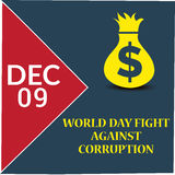 International Day Against Corruption. Creative banner or poster For International Day Against Corruption Stock Image