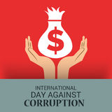 International Day Against Corruption. Creative banner or poster For International Day Against Corruption Royalty Free Stock Images