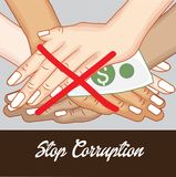 International Day Against Corruption. Vector Illustration of a Background for International Day Against Corruption Stock Image