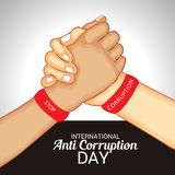 International Day Against Corruption. Royalty Free Stock Photography