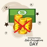 International Day Against Corruption. Royalty Free Stock Image