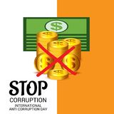 International Day Against Corruption. Stock Photography