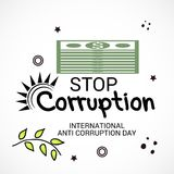 International Day Against Corruption. Stock Images