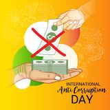 International Day Against Corruption. Vector Illustration of a Background for International Day Against Corruption royalty free illustration