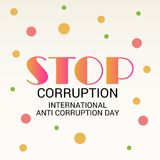 International Day Against Corruption. Vector Illustration of a Background for International Day Against Corruption stock illustration