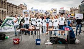 International Day against Drug Abuse and Illicit Trafficking. June 26, 2015. Kiev, Ukraine. International Day against Drug Abuse and Illicit Trafficking in Kiev Stock Photo