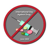 International Day Against Drug Abuse. 26 June. Royalty Free Stock Images
