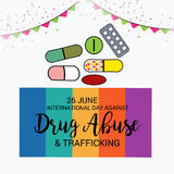 International Day Against Drug Abuse & Trafficking. Stock Photography