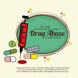 International Day Against Drug Abuse & Trafficking. Royalty Free Stock Photo