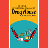 International Day Against Drug Abuse & Trafficking. Royalty Free Stock Images