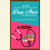 International Day Against Drug Abuse & Trafficking. Stock Photo