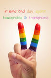 International day against homophobia and transphobia Royalty Free Stock Image