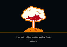 International Day against Nuclear Tests vector Royalty Free Stock Photography