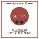 International Day of the Blind. November 13 Royalty Free Stock Image