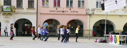 International Day of Dance in Frydek-Mistek Stock Image
