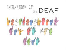 International day of the deaf Royalty Free Stock Photo