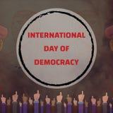 International Day of Democracy, 15 September. Speaker in crowd conceptual illustration royalty free illustration