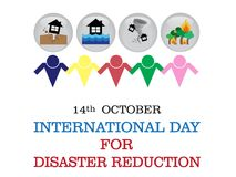 International Day For Disaster Reduction background. International Day For Disaster Reduction on October 14 background Stock Photography