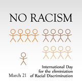 International day for the elimination of Racism March 21 Royalty Free Stock Images