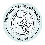 International Day of Families. May 15. Family icon. Royalty Free Stock Images
