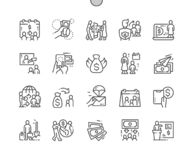 International Day of Family Remittances, IDFR Well-crafted Pixel Perfect Vector Thin Line Icons Grid. International Day of Family Remittances, IDFR Well-crafted stock illustration