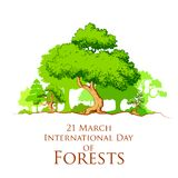 International Day of Forest Stock Photo