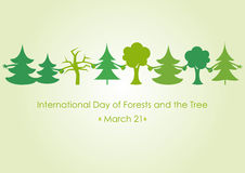 International Day of Forests and the Tree. Trees holding hands. Vector illustration for International Day of Forests and the Tree. Vector illustration Stock Images