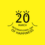 International Day of Happiness. Vector Concept or Logo in Minimal Style vector illustration