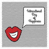 International Day of Happiness. Vector illustration of International Day of Happiness Stock Photos