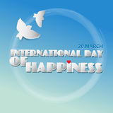 International day of Happiness. Royalty Free Stock Image