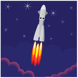 International day of human space flight.. Rocket launch from earth. Space Royalty Free Stock Photography